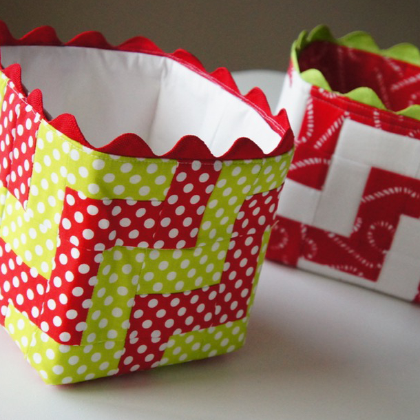 Festive Fabric Baskets