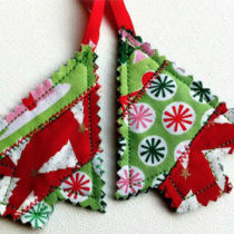 Quilted Tree Ornaments